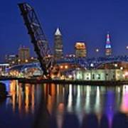 A Cleveland Ohio Evening On The River Art Print