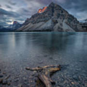 A Cloudy Day In Bow Lake Art Print