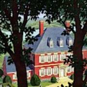 A Colonial Manor House Art Print