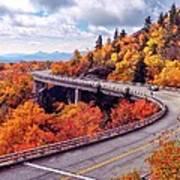 A Colorful Ride Along The Blue Ridge Parkway Art Print