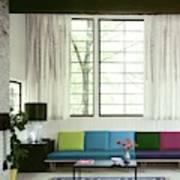 A Colourful Living Room Art Print