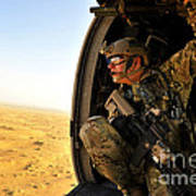 A Combat Rescue Officer Conducts Art Print