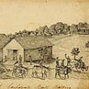 A Confederate Bull Battery Previous To The Battle Of Bull Run Art Print