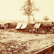 A Confederate Redoubt, Us, Usa, America Art Print