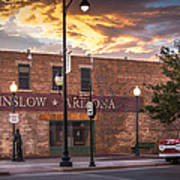 A Corner In Winslow Arizona Art Print