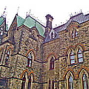 A Corner Of Parliament Building In Ottawa-on Art Print