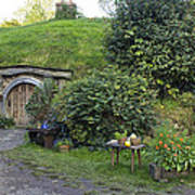 A Cosy Hobbit Home In The Shire Art Print