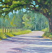 A Country Road Art Print by Rich Kuhn