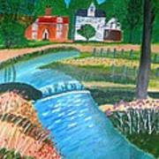 A Country Stream Art Print