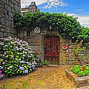 A Courtyard In Brittany France Art Print