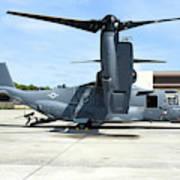 A Cv-22b Osprey On The Ramp At Hurlburt Art Print