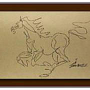 A Dancing Horse Art Print