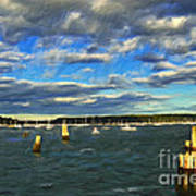 A Day At Oyster Bay Art Print
