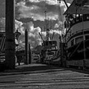 A Day At The Dock Art Print