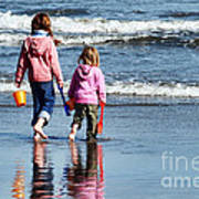 A Day At The Seaside  Art Print