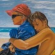 A Day On The Beach Art Print