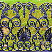 A Decorative Iron Seat Art Print