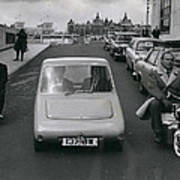 A Demonstration Of Electric Vehicle In London Art Print