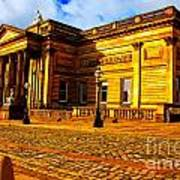 A Digitally Converted Painting Of The Walker Art Gallery In Liverpool Uk Art Print