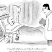 A Doctor Speaks To A Patient In A Hospital Bed Art Print