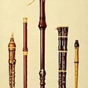 A Double Flageolet, A German Flute Art Print