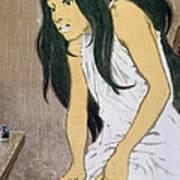 A Drug Addict Injecting Herself Art Print