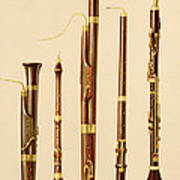 A Dulcian, An Oboe, A Bassoon Art Print