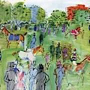 A Equestrian Scene Art Print