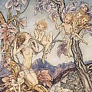 A Fairy Song From A Midsummer Nights Dream Art Print