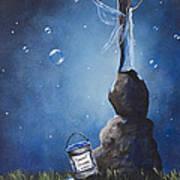 A Fairy's Nighttime Gift By Shawna Erback Art Print by Shawna Erback