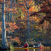 A Fall Fishing Trip Art Print