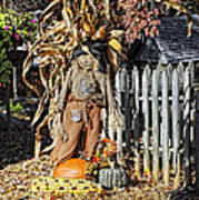 A Fall Scarecrow Display Art Print