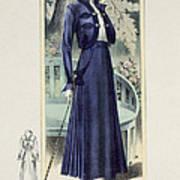 A Fashionable French Lady Art Print