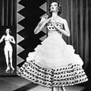 A Fashionable Mannequin And Her Unclothed Version In The Backgro Art Print by Underwood Archives