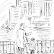 A Father And Son In Brooklyn Look Art Print