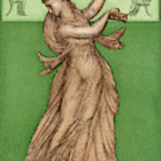A Female Dancer Performs  Alone Art Print