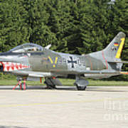 A Fiat G-91 Fighter Plane Of The German Art Print