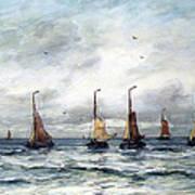 A Fishing Fleet Art Print
