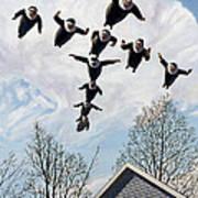 A Flock Of Flying Nuns Art Print