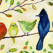 A Flock Of Many Colors Art Print