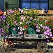 A Flower Wagon Art Print