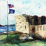A Fort In Maine Art Print