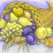 A Fruitful Horn Of Plenty Art Print