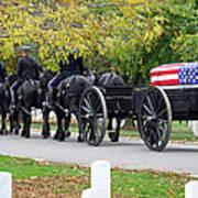 A Funeral In Arlington Art Print
