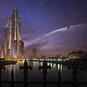 A Futuristic City On An Art Print