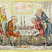 A Game Of Chess -  Two Wigged Gentlemen Art Print
