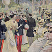 A Garden Party At The Elysee Art Print