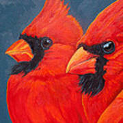 A Gathering Of Cardinals Art Print
