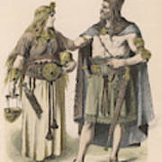 A German Man And Woman Of The  Bronze Art Print