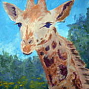 A Giraffe For Ori Art Print